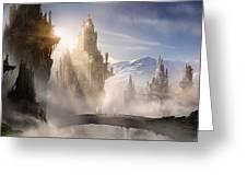 Skyrim Fantasy Ruins Greeting Card by Alex Ruiz