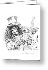Slash Greeting Card by David Lloyd Glover