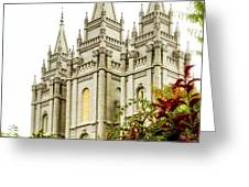 SLC Temple Angle Greeting Card by La Rae  Roberts