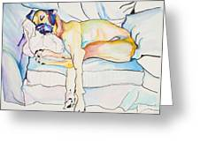 Sleeping Beauty Greeting Card by Pat Saunders-White