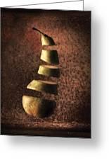 Sliced Up Pear Greeting Card by Dirk Ercken