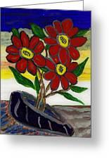 Slipper Flower Greeting Card by Enrico Pischiera