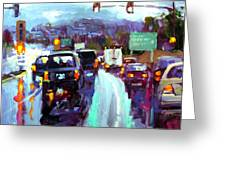 Slippery When Wet Greeting Card by Brian Simons
