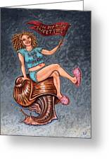 Slo Woman Greeting Card by Holly Wood
