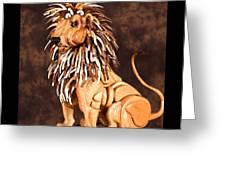 SMALL LION Greeting Card by THOMAS THOMAS