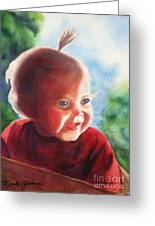 Smile Greeting Card by Marilyn Jacobson