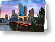 Smithfield Street Bridge Greeting Card by Emmanuel Panagiotakis