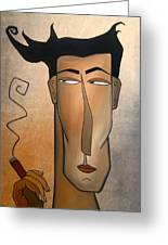 Smoke Break Greeting Card by Tom Fedro - Fidostudio
