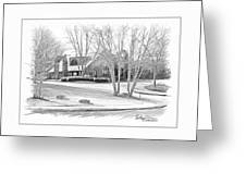 Snellville Police Station Greeting Card by Anthony R Socci