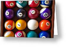 Snooker Balls Greeting Card by Carlos Caetano
