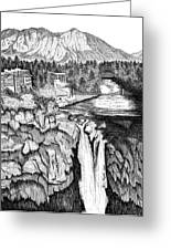 Snoqualmie Falls Greeting Card by Lawrence Tripoli