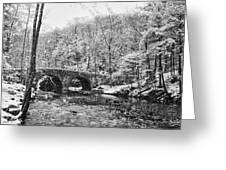 Snow Along The Wissahickon Creek Greeting Card by Bill Cannon