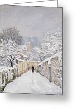 Snow At Louveciennes Greeting Card by Alfred Sisley