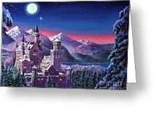 Snow Castle Greeting Card by David Lloyd Glover