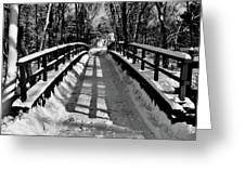 Snow Covered Bridge Greeting Card by Daniel Carvalho