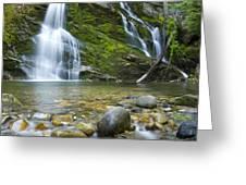 Snow Creek Falls Greeting Card by Idaho Scenic Images Linda Lantzy