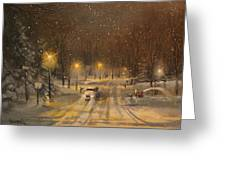 Snow For Christmas Greeting Card by Tom Shropshire