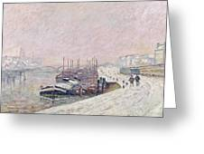 Snow in Rouen Greeting Card by Jean Baptiste Armand Guillaumin