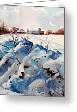 Snow On Southwick I Greeting Card by Elizabeth Carr