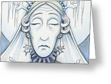 Snow Queen Mum Slumbers Greeting Card by Amy S Turner