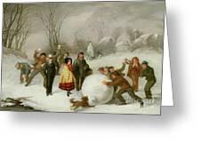 Snowballing   Greeting Card by Cornelis Kimmel