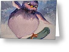 Snowboard Bird Greeting Card by Diane Ursin