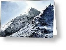Snowdon Greeting Card by Paul Dene Marlor