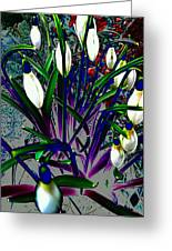 Snowdrops In Abstract  Greeting Card by Beth Akerman