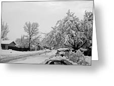 Snowed In Greeting Card by Jera Sky