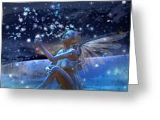 Snowflake Greeting Card by Karen K
