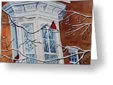 Snowy Bay Greeting Card by Patsy Sharpe