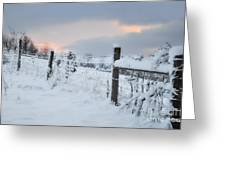 Snowy Day Greeting Card by Kathy Jennings