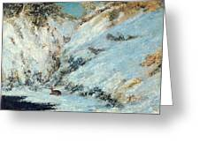 Snowy Landscape Greeting Card by Gustave Courbet