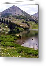 Snowy Moutain Loop 7 Greeting Card by Marty Koch