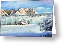Snowy Sugar Knoll Greeting Card by Sherril Porter
