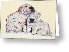 Snuggles  Greeting Card by Pat Saunders-White