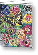 So Many Flowers So Little Time Greeting Card by Anne-Elizabeth Whiteway
