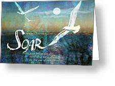 Soar Greeting Card by Evie Cook