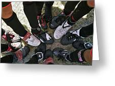 Soccer Feet Greeting Card by Kelley King