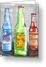 Soda Pops Greeting Card by Russell Pierce