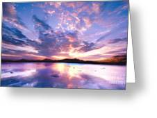 Soft Setting Greeting Card by Photodream Art