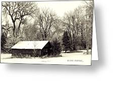 SOFT SNOW COVER Greeting Card by Don Durfee