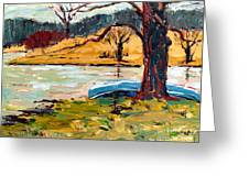 Sold Donnie Myers Pond Greeting Card by Charlie Spear