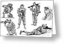 Soldiers Greeting Card by Murphy Elliott