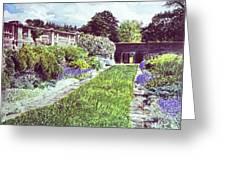 Somerset Garden Greeting Card by David Lloyd Glover