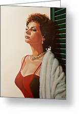 Sophia Loren 2  Greeting Card by Paul Meijering