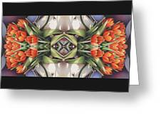 Soul Plexus - Tulips With Pearl Chakras Greeting Card by Amy S Turner