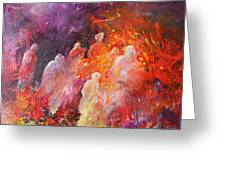 Souls In Hell Greeting Card by Miki De Goodaboom