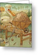 Soup In The Lake Greeting Card by Kestutis Kasparavicius