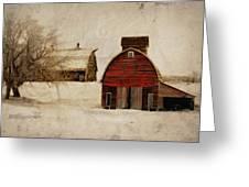 South Dakota Corn Crib Greeting Card by Julie Hamilton